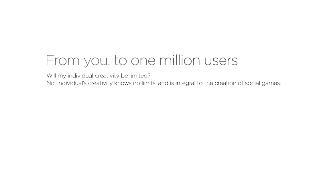 From you,to one million users